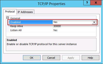 TCPIP Enabled