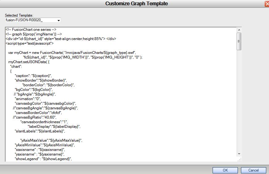 Custom Graphing Templates