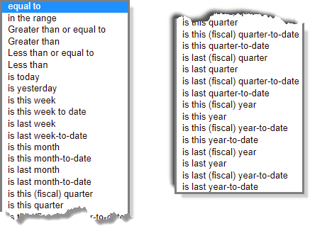 relation dropdown