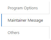 Maintainer Message