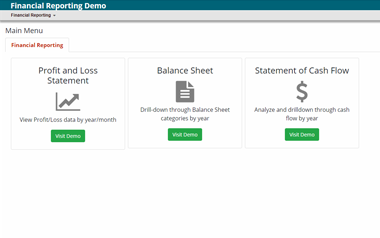 Financial Reporting Portal Demo