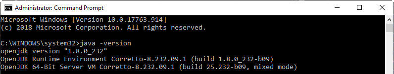 Java Version Updated