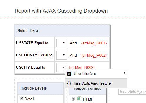 Editing AJAX Cascading Dropdown